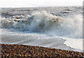 TR2235 : Stormy seas at Folkestone, February 1997 by Ben Brooksbank
