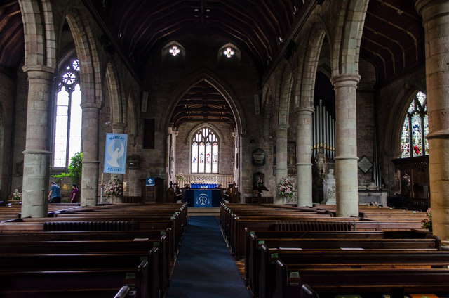Interior, St Mary's church, Ross on Wye