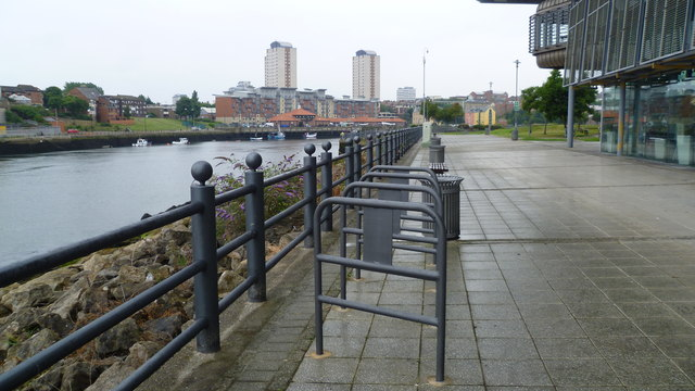 On the old dockside of the River Wear in Sunderland Harbour