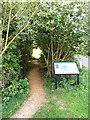 TM1441 : Footpath & Belstead Brook Park information board by Adrian Cable