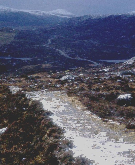 The Postman's path from Reinigdal to the main road to Tarbert
