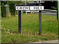 TM1441 : Grove Hill sign by Adrian Cable