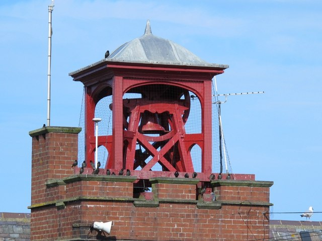 Bell tower on the RNLI Lifeboat Station, Cullercoats Bay