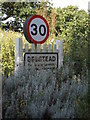 TM1341 : Belstead Village Name sign on Grove Hill by Adrian Cable