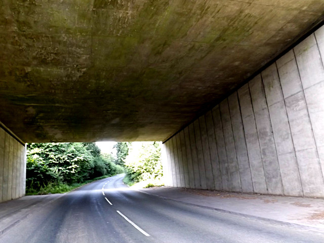 Under the A14 Felixstowe Road on Grove Hill