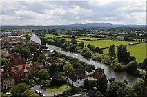 SO8454 : View to the south-west from Worcester Cathedral by Philip Halling
