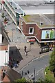 SO8554 : Elgar statue viewed from the tower of Worcester Cathedral by Philip Halling