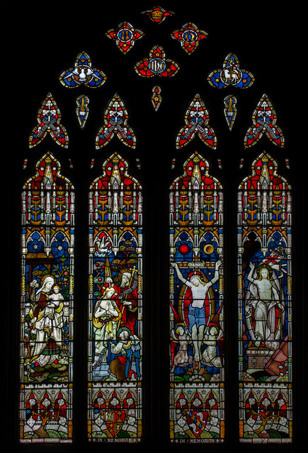 West window, St Mary's church, Ross on Wye