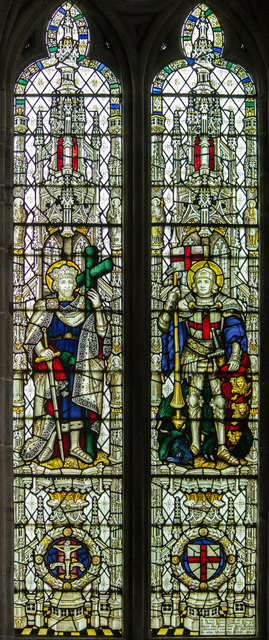 Stained glass window, St Mary's church, Ross on Wye