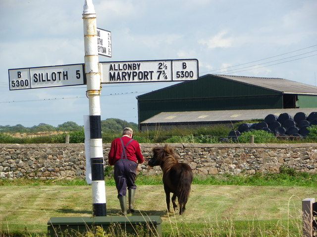 Mawbray Sign Post