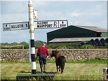 NY0846 : Mawbray Sign Post by Tom Howard