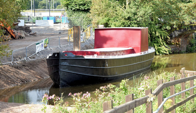 Restored Lagan canal barge, Belfast - August 2014(1)