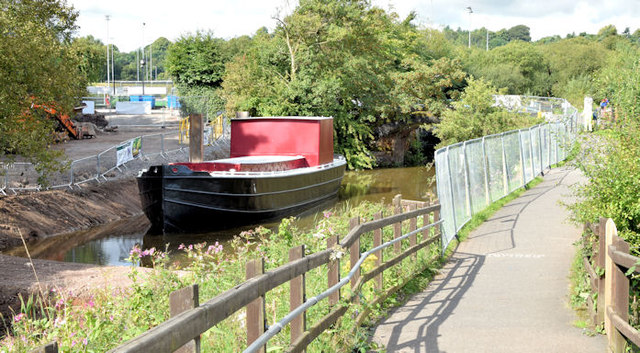 Restored Lagan canal barge, Belfast - August 2014(2)