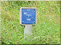 "J3268 : Water main ""RP"" marker post, Belfast by Albert Bridge"