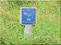 "J3268 : Water main ""RP"" marker post, Belfast by Albert Bridge"