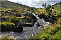 SX5788 : West Devon : Dartmoor Scenery & West Okement River by Lewis Clarke