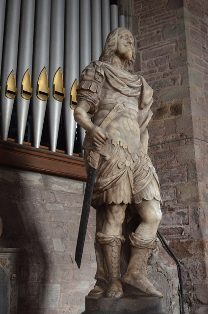 Colonel William Rudhale statue, Ross on Wye church