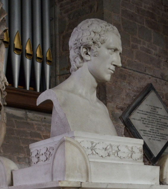 Bust of Thomas Westfaling, Ross on Wye church