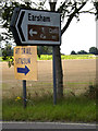 TM3188 : Roadsign on the A143 Old Railway Road by Adrian Cable