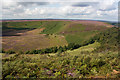 SE8493 : The Hole of Horcum, late August view by Pauline E