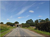 TA0912 : Croxton road railbridge by Steve  Fareham