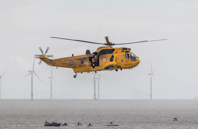 Air/Sea Rescue Demonstration, Sea King Helicopter, Clacton, Essex