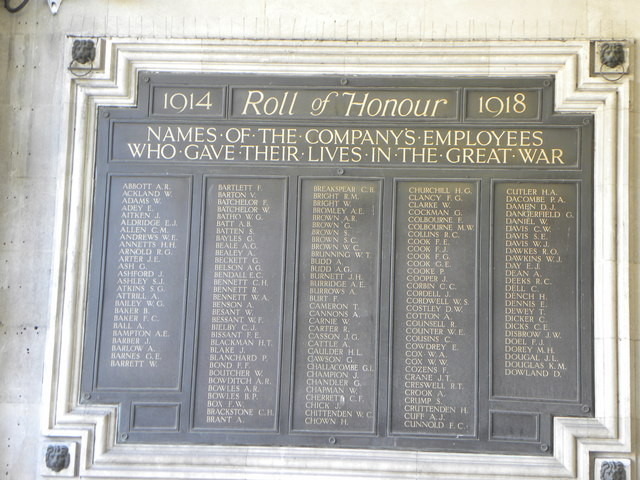 1914-18 Roll of Honour at London Waterloo station