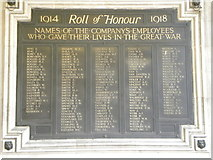 TQ3179 : 1914-18 Roll of Honour at London Waterloo station by Ashley Martin