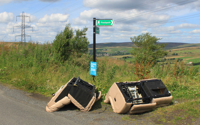 Fly-tipping.