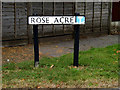 TM0636 : Rose Acre sign by Geographer