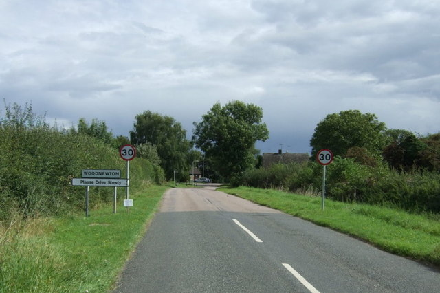 Entering Woodnewton