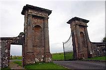 C7535 : Lion Gate, Downhill Demesne, Seacoast Road, Castlerock by Jo Turner