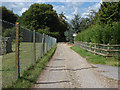 TQ0450 : Access road off the Shere Road by Alan Hunt