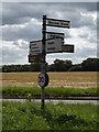 TM0537 : Roadsign on the B1070 Hadleigh Road by Geographer