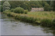 SP1106 : Bibury: cottages on Arlington Row, seen across the meadows on Rack Isle by Christopher Hilton