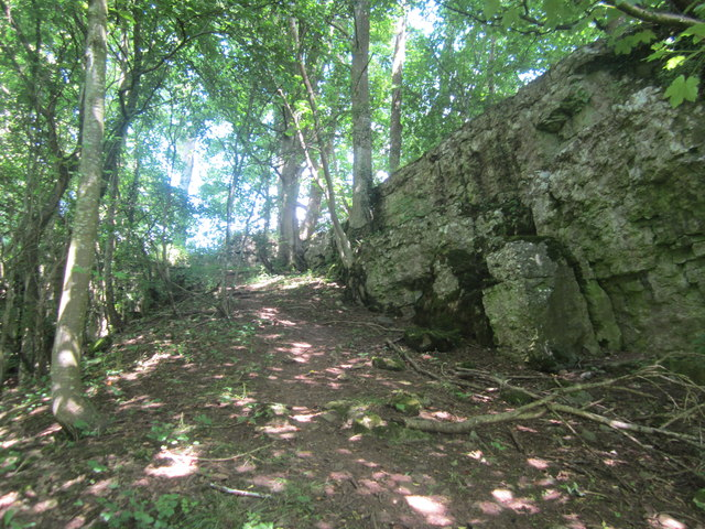 The northern end of Jackdaws' Scar