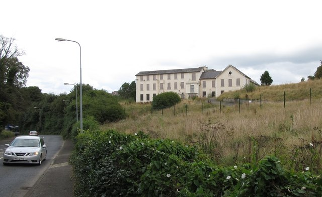 The Derelict Old Downe Hospital viewed from the Killough Road