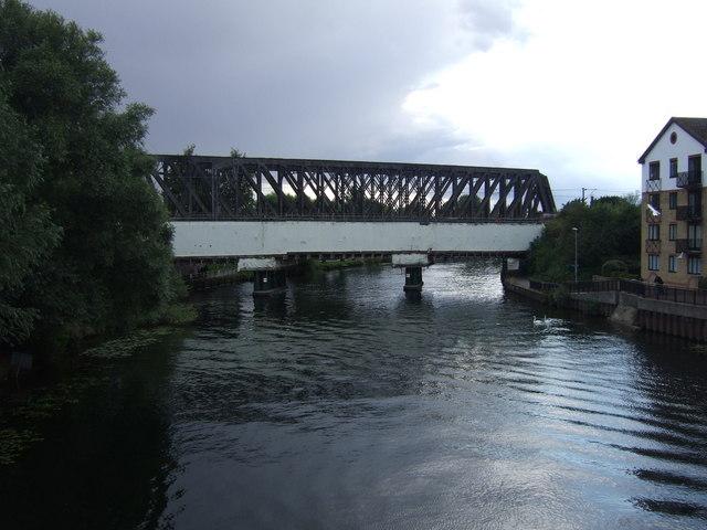 Railway bridge over the River Nene