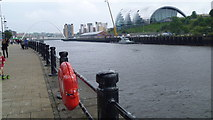 NZ2563 : On the Quayside in Newcastle upon Tyne by Jeremy Bolwell