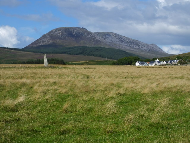 Standing Stone and Auchencar Farm