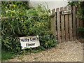 TM0733 : Willy Lott's House sign at Flatford Mill by Adrian Cable