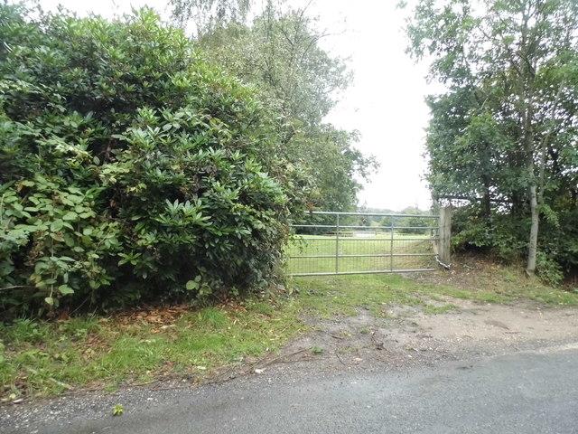 Entrance to field on Tilehouse Lane