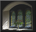 SD7377 : Flowers in the window, St Leonard's Church, Chapel-le-Dale by Karl and Ali