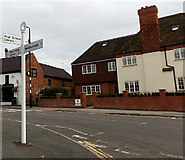 SK4003 : Station Road signpost,  Market Bosworth by Jaggery