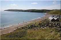 SH1726 : The beach at Aberdaron by Philip Halling