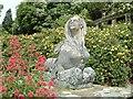 SH7972 : The Sphinx Statue on Canal Terrace Bodnant Garden (2) by Richard Hoare