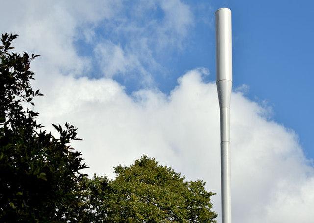 Telecoms mast, Annadale, Belfast (August 2014)