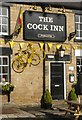 SK3093 : Yellow bike at the Cock Inn by Dave Pickersgill
