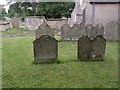 SK8172 : Gravestones, Church of St Gregory, Fledborough by Alan Murray-Rust