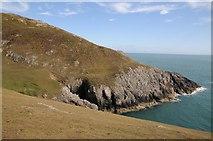 SH1325 : Coast below Mynydd y Gwyddel by Philip Halling